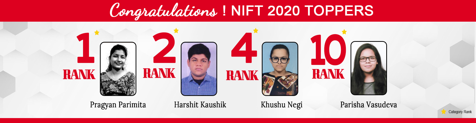 nift 2020 TOPPERS