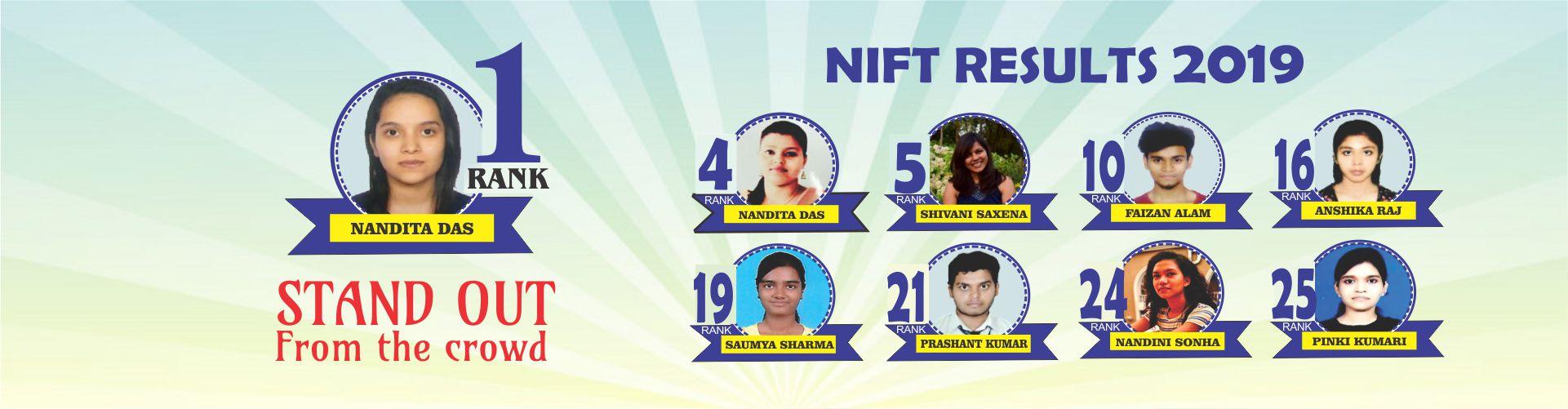NIFT 2019 RANK