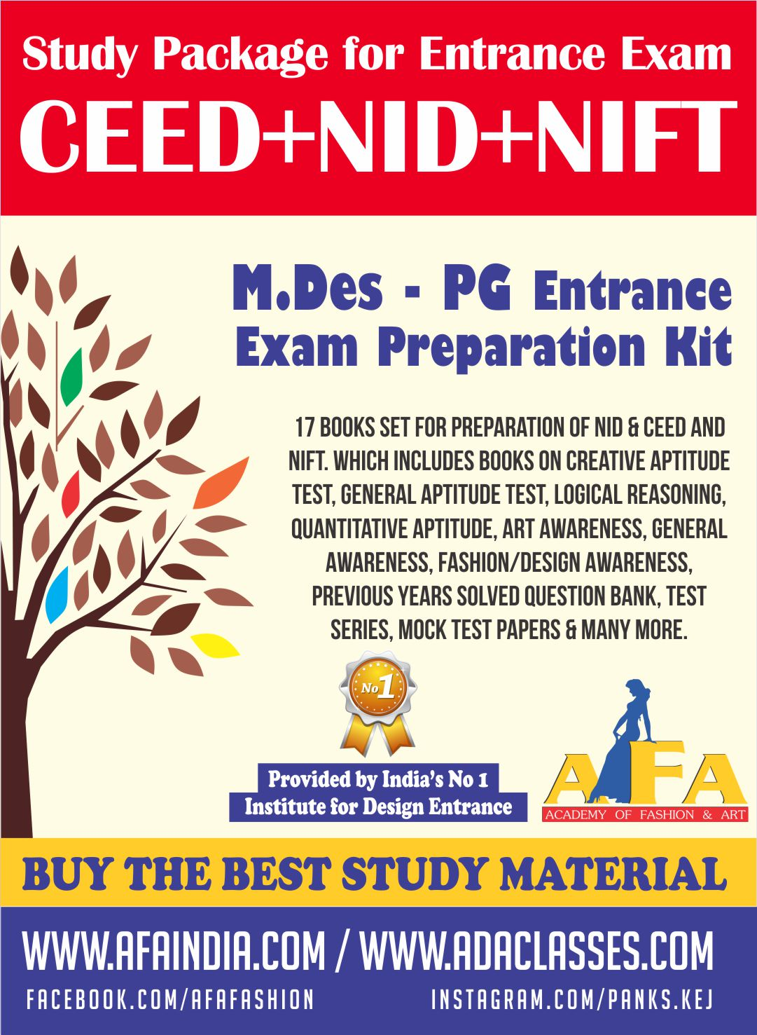 Ceed Nid Nift M Des Pg Study Material For All Kind Designing Courses At Afa India
