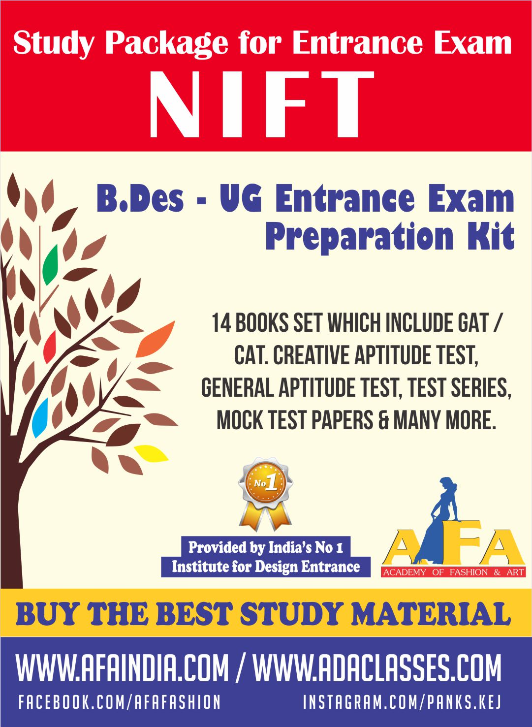 Nift B Des Ug Study Material For All Kind Designing Courses At Afa India