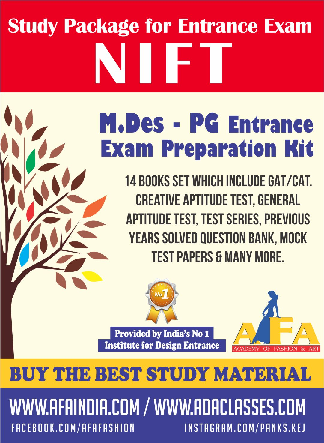 Nift M Des Pg Study Material For All Kind Designing Courses At Afa India