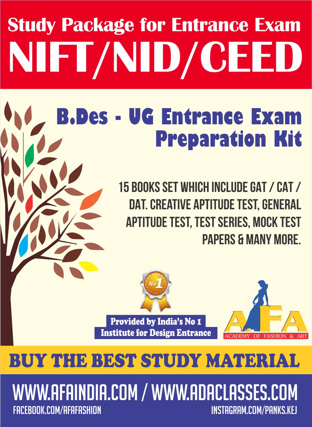 Nift Nid And Other Design Institutes Study Material For All Kind Designing Courses At Afa India