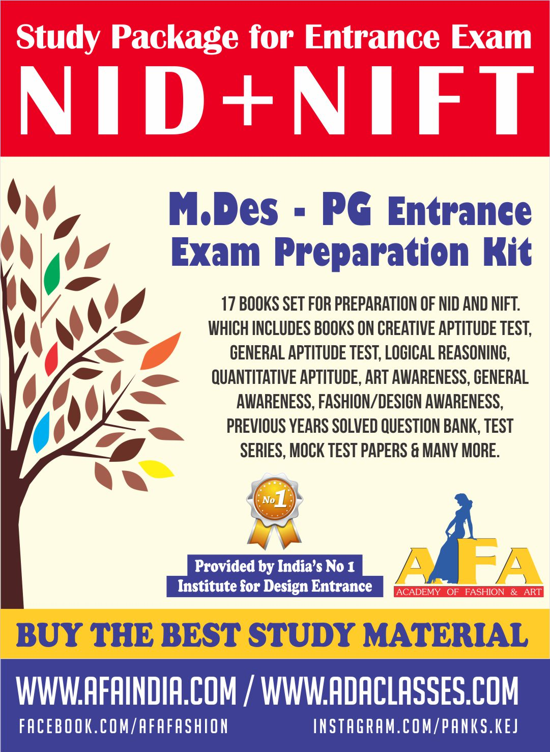 Nid Nift M Des Pg Study Material For All Kind Designing Courses At Afa India