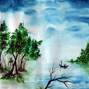 scenary paintings design